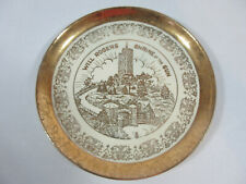 VINTAGE CREST-O-GOLD WARRANTED 22K WILL ROGERS SHRINE OF THE SUN CERAMIC PLATE