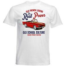 VINTAGE Francese AUTO RENAULT FLORIDE-Nuovo T-shirt di cotone