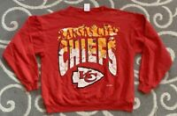 Vintage 1990s Kansas City Chiefs NFL Football 90s Crewneck Sweatshirt Size Large