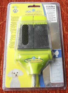 FURMINATOR FURFLEX SYSTEM DUAL SLICKER BRUSH HEAD NEW IN SEALED PACK GREYHOUND R