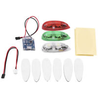 3pcs/set LED Drone Flash Light Remote Control for RC Fix Wing Plane Helicopter#D