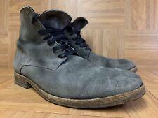 RARE🔥 Allsaints Spitalfields Round Toe Ankle Suede Boots Ash Gray Sz 43 9.5