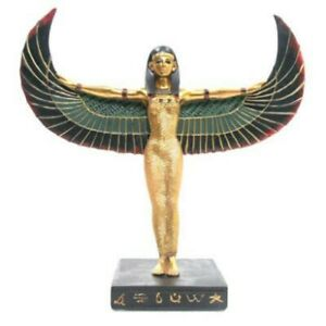 Ancient Egyptian Winged Standing Isis Figurine Gift Home Office Decoration ES50