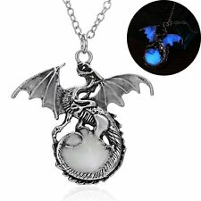 Women/Men Punk Glow In The Dark Dragon Pendant Necklace Charm Jewelry Gifts