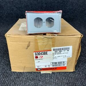 Lot of 17 Wiremold G3043BE Gray Duplex Receptacle