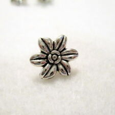 10 Antique Silver Lily Easter Flower spacer Beads, 14mm, Jewelry Supplies G1452