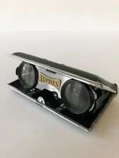 Vintage Mid-Century Lupinus Glass Compact Folding Binoculars Opera Glasses Japan