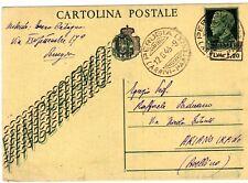 1945 intero postale c. 15 Vinceremo soprastampato lire 1,20 - splendido