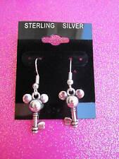 925 Sterling Silver Mouse Key Dangle Earrings