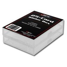Caja de almacenamiento de tarjeta deportiva impermeable calificado de bloqueo de espuma forrada autenticador deportivos profesionales de caso BVG BGS