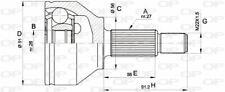TêTE DE CARDAN POUR FORD MONDEO III 2.0 16V TDDI / TDCI,2.0 TDCI,2.2 TDCI,ST220