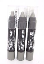 Maybelline Eyeshadow Stick Grey Crystal 24 Hr Concentrated Crayon #740 Lot of 3