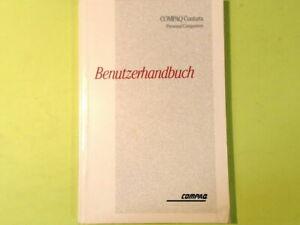BENUTZERHANDBUCH COMPAQ CONTURA PERSONAL COMPUTERS