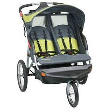 New ListingBaby Trend Expedition Swivel Double Jogger Baby Jogging Stroller (Open Box)