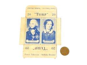 Original Carreras Turf Brand Card Lord Nelson and Charlotte Bronte w/Tabs