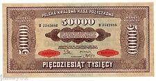 ~ POLAND  50,000 Marek Banknote - 1922 - P33 ~