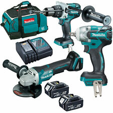 Makita 18V 5Ah 3PC Combo Kit Brushless 1/2'' wrench , Grinder , HAMMER DRILL