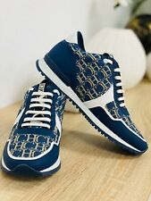 Deportivas Sneakers Azul Beige CH Carolina Herrera Talla 38 Nuevas Originales