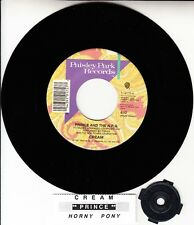"PRINCE Cream & Horny Pony 7"" 45 rpm vinyl record + juke box title strip NEW"