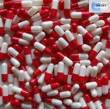 1000 Empty Gelatine gelatin capsules red/white size 3 EU products & standard