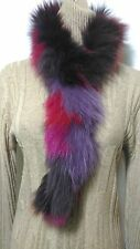 New design 100% real dyed coyote fox fur scarf collar