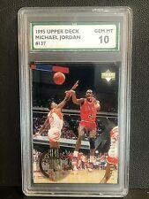 MICHAEL JORDAN 1995 Upper Deck ROOKIE YEARS #137 Graded SPA 10 Gem Mint BULLS