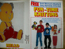 Woman's weekly knitting pattern  children Sweaters designed by Gary Kennedy