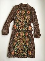 90's Christian Lacroix Couture Paris Fitted Skirt Jacket Suit Set Floral Bouquet