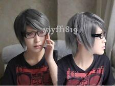HOT cosplay wig  Narukami Yu short dark grey Fashion wig