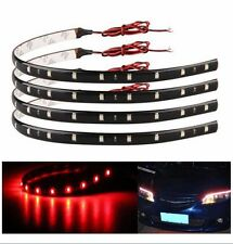 4X 30CM  Wireless Remote Control Car Boat Motorcycle ATV Red LED Light Flexible