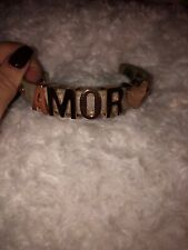 "BCBG ""AMOR"" Bracelet Bronze Letters BCBGeneration."