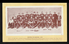1937-38 CROWN BRAND Montreal Les Canadiens Hockey Team Photo #107 Vtg Card NHL