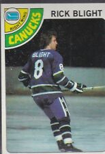 1978-79 TOPPS HOCKEY RICK BLIGHT 37 CANUCKS EXMT/NRMT *54787