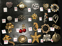 FASHION SCRUBS ANIMALS CAR FLOWER ETC BN81 Details about  /PICK A BROOCH PIN VINTAGE NOW