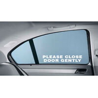 PLEASE CLOSE DOOR GENTLY DECAL CAR TRUCK WINDOW LAPTOP STICKER DELIVERY DRIVER