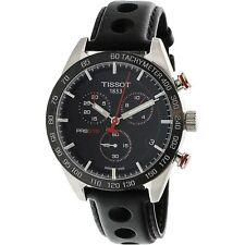 TISSOT Men's watch PRS 516 CHRONOGRAPH QUARTZ BLACK LEATHER BAND T1004171605100