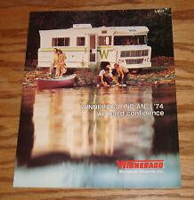 Original 1974 Winnebago Indian Sales Brochure 74 D-23 D-23L D-25