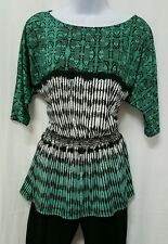 Womens Peplum Shirt Max Edition NWOT SIZE M Pullover Knit 3/4 Sleeve