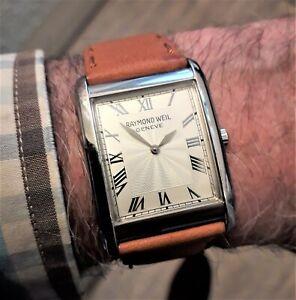 Raymond Weil Geneve Don Giovanni 9973/1 quartz Tank Style watch