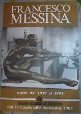 POSTER MANIFESTO 1985 SCULTORE FRANCESCO MESSINA - CASINO' DI SANREMO ( MAN )