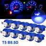 10X Blue T5 B8.5D 5050 1SMD LED Dashboard Dash Gauge Instrument Interior Light