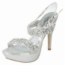 Anne Michelle F1R0278 Ladies Silver High Platform Stiletto Sandals (R19A)