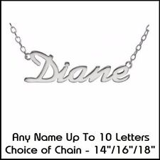 """Sterling Silver Letters, Numbers & Words 16 - 17.99"""" Fine Necklaces & Pendants"""