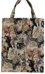 Katzen Einkaufsbeutel Kätzchen Einkaufstasche Shopper Gobelin Tapestry