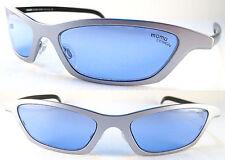 RARE MOMO DESIGN UNISEX SUNGLASSES Titanium, Silver/Black/Blue
