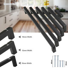 Black Kitchen Square Bar Cabinet Handles Cupboard Door Knobs Wardrobe Pulls