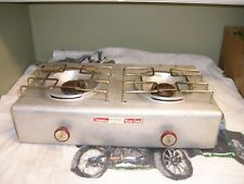 Vintage Coleman L P Picnic Camp Stove 2 Burner Aluminum Body model 5409