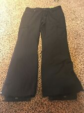 ROXY BLACK WOMEN'S WATERPROOF SKI/SNOWBOARD PANTS White WOMEN'S LARGE