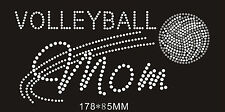 Volleyball Mom Rhinestone iron on transfer DIY applique sports mom