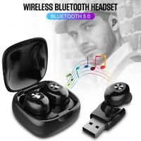 Mini Ecouteurs Casque Bluetooth Sans fil Stereo Auriculaires Samsung Iphone TWS